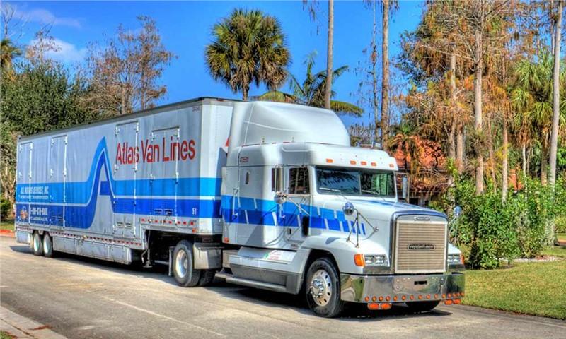 Atlas Moving Truck On Road
