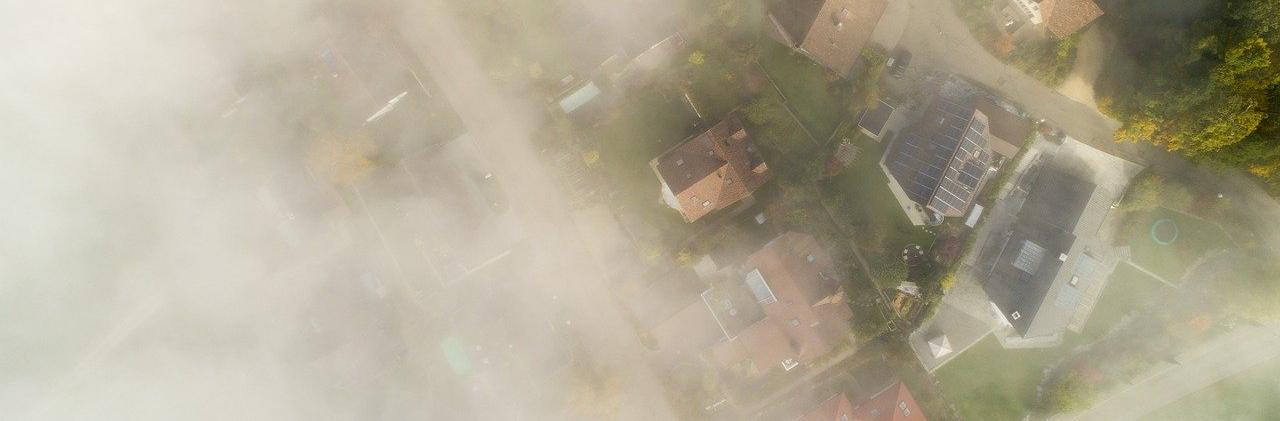 Bad Weather Over a Neighborhood