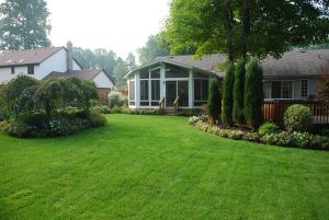 Year Round Sunroom with Angled Corners in White
