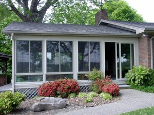 Year Round Sunroom with Glass Knee Wall