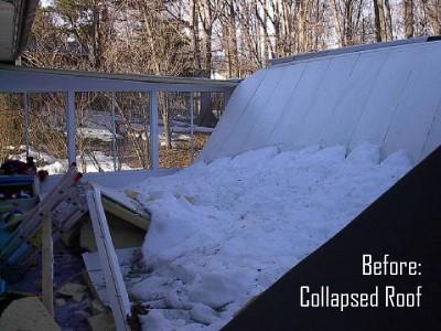Sunroom Roof Collapse