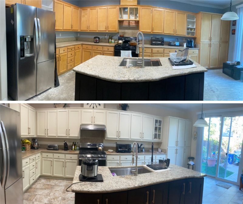 Cabinet Painting in Tracy, CA: Transforming a Stressful Situation!