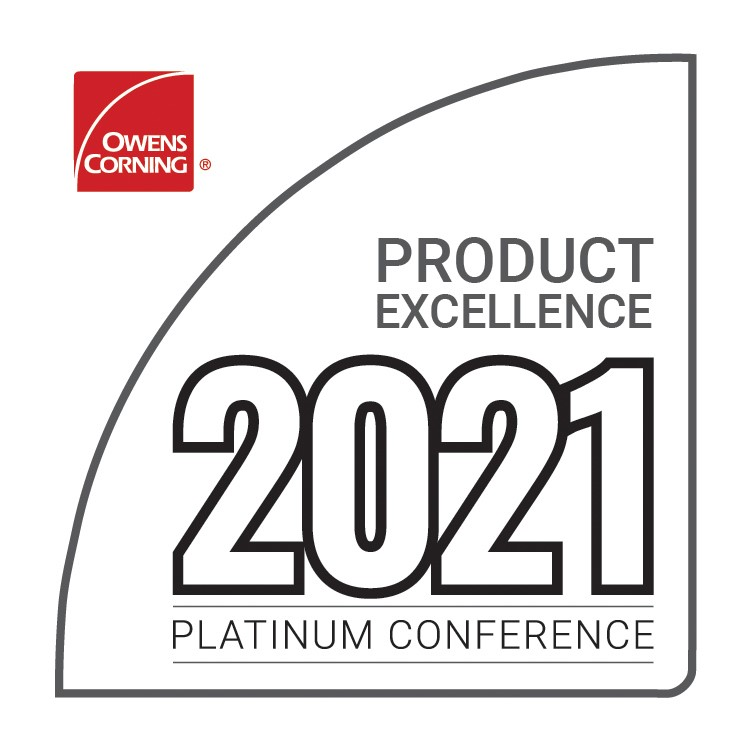 Awarded Product Excellence Honor by Owens Corning