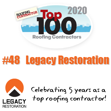 Legacy Secures Spot #48 on Top 100 Roofing Contractors List