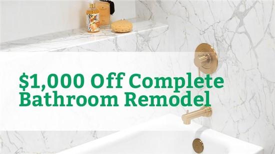 $1000 Off Complete Bathroom Remodel