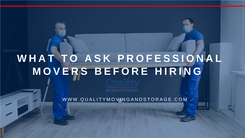 What to Ask Professional Movers Before Hiring