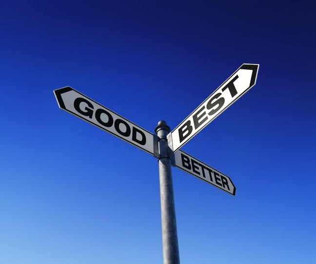 Good, Better, Best: We Have the Right Solution for YOU!