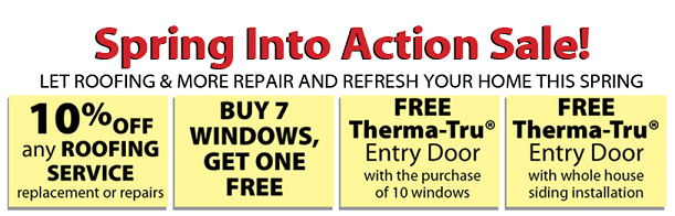 """""""Spring Into Action"""" for Great Savings on Roofing, Arlington VA Replacement Windows & More!"""