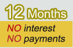 Enjoy 12 Months Financing