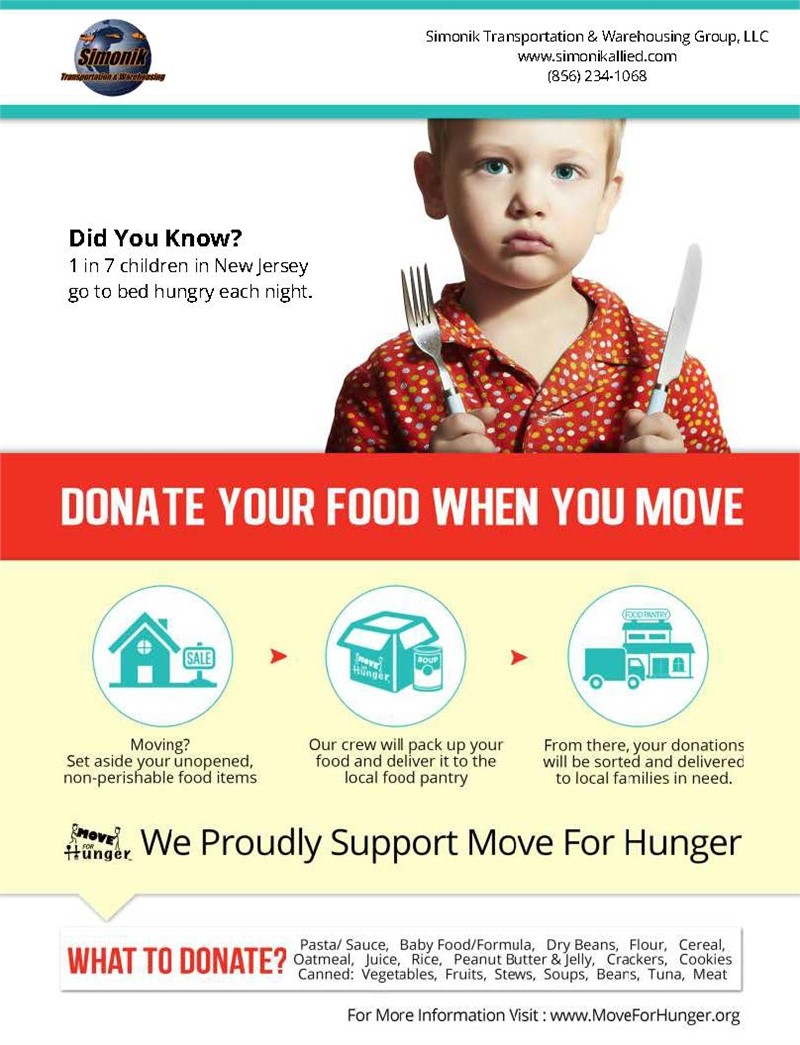 Simonik Partners With Move For Hunger To Help Nourish The Community!