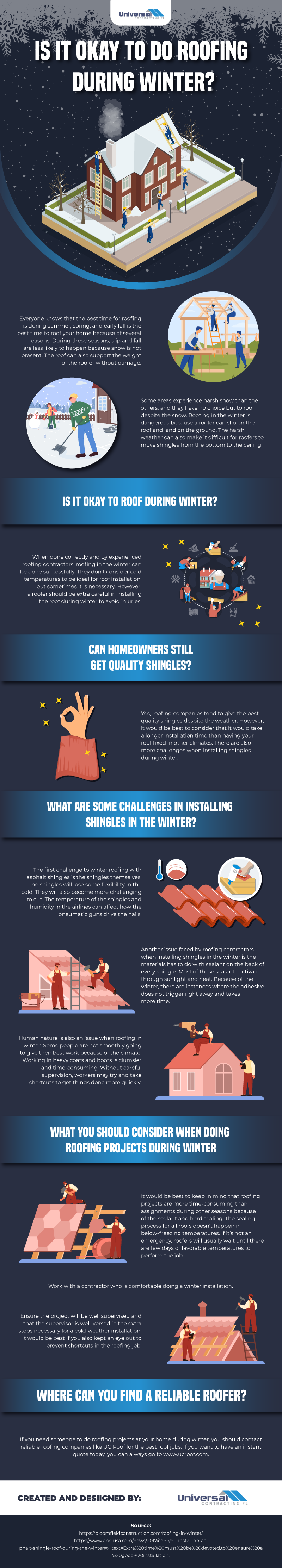 Is it okay to do roofing during winter?