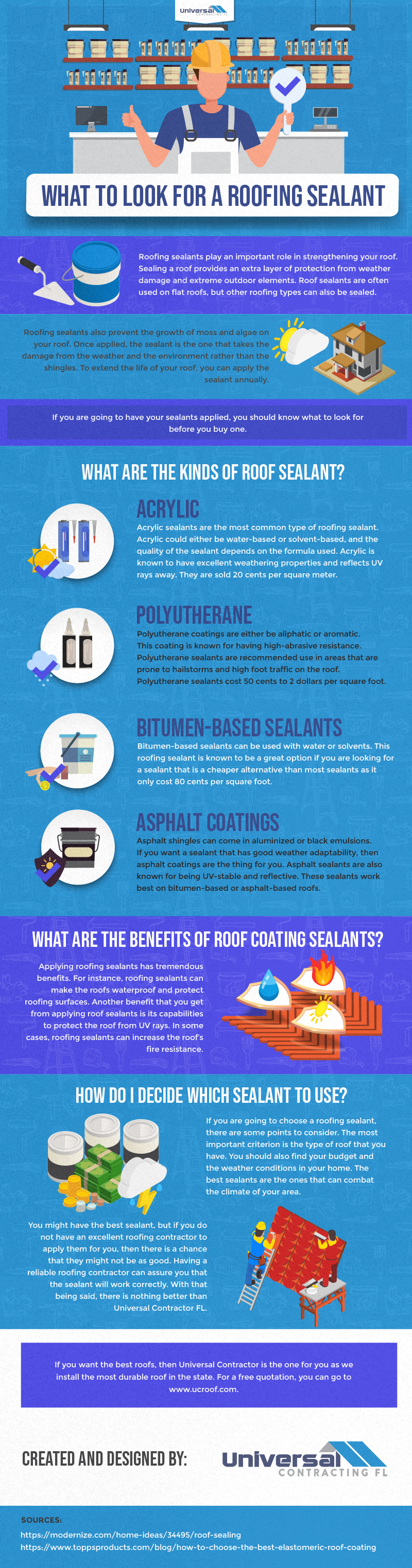 What to Look for a Roofing Sealant - Infographic
