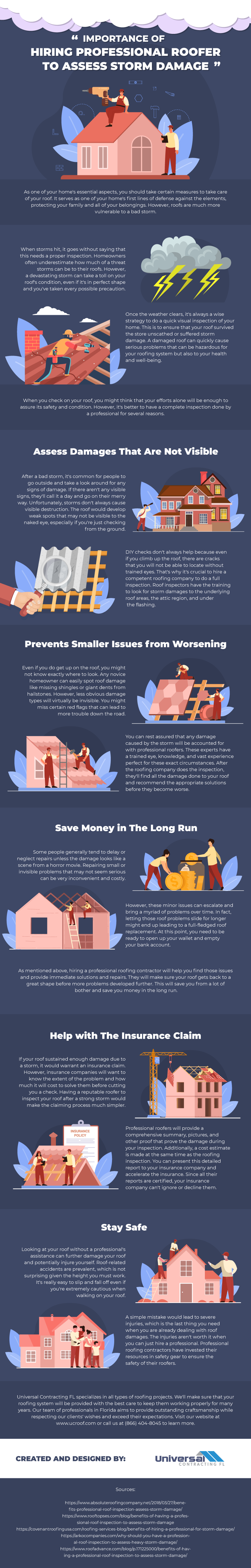 Importance of Hiring Professional Roofer to Assess Storm Damage - Infographic