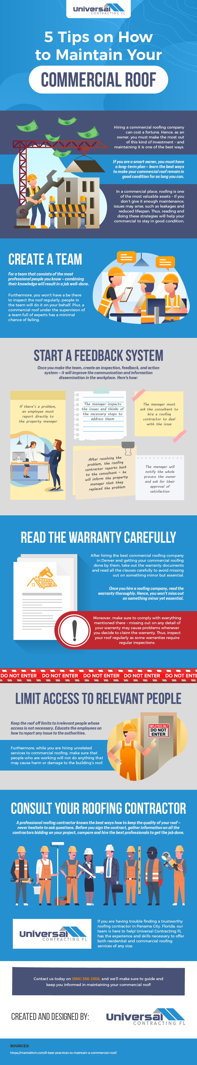 5 Tips on How to Maintain Your Commercial Roof - Infographic