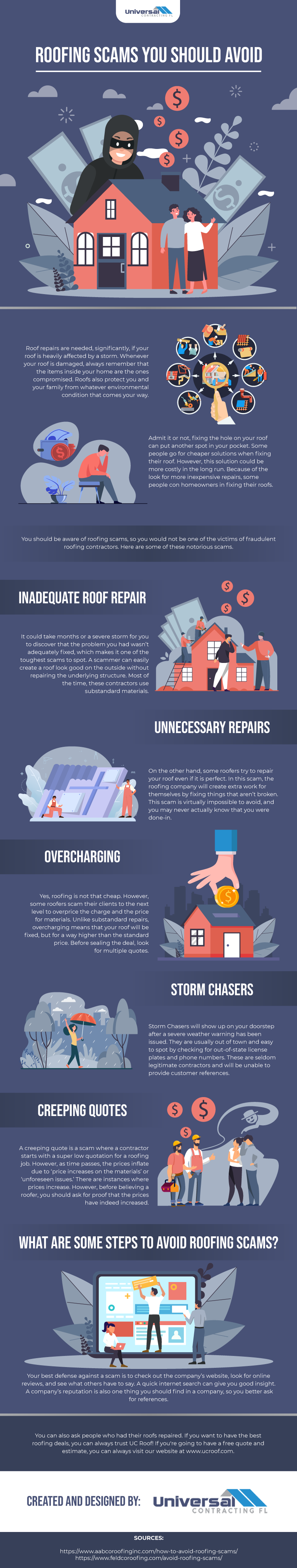 Roofing Scams You Should Avoid - Infographic