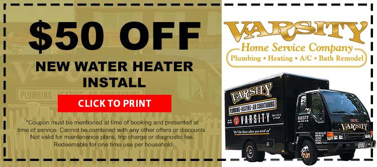 $50 Off New Water Heater Install