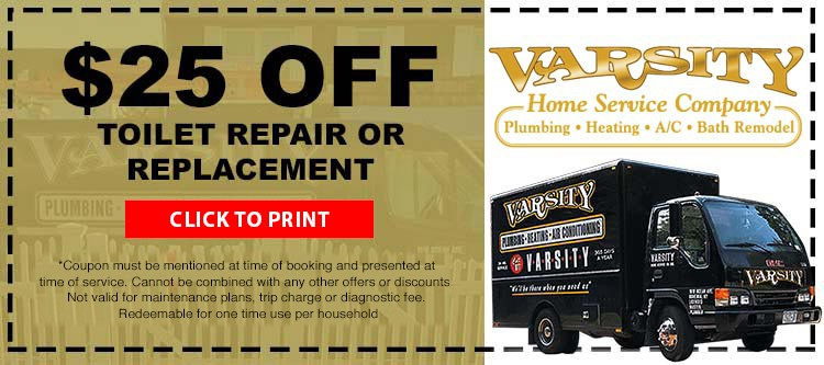 $25 Off Toilet Repair or Replacement
