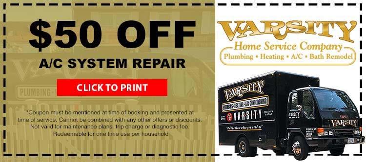 $50 Off A/C System Repair