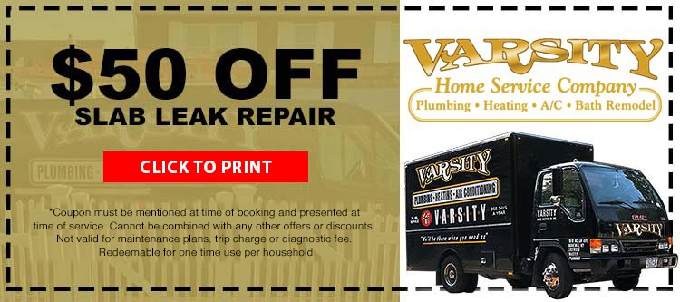 $50 Off Slab Leak Repair