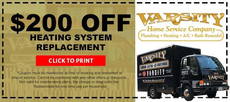 $200 Off Heating System Replacement