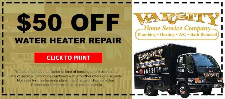 $50 Off Water Heater Repair