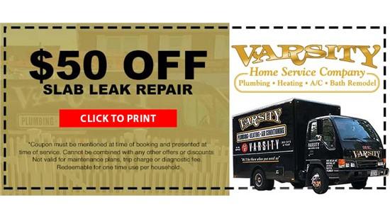 $50 Off Slab Leak Repair