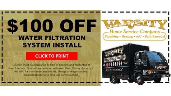 $100 Off Water Filtration System Install