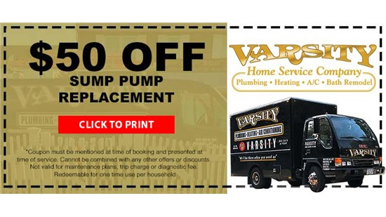 $50 Off Sump Pump Replacement