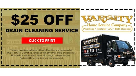 $25 Off Drain Cleaning Service